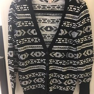 Black and white cardigan size L